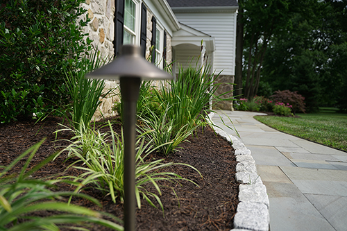 Residential landscape design walkway